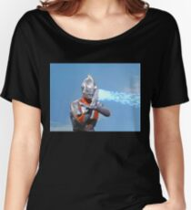 Ultraman ! Here he comes from the sky.... Women's Relaxed Fit T-Shirt