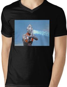 Ultraman ! Here he comes from the sky.... Mens V-Neck T-Shirt