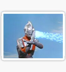 Ultraman ! Here he comes from the sky.... Sticker