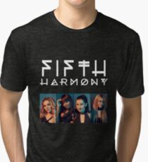 Fifth Harmony Portrait #WhiteText Tri-blend T-Shirt