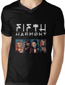 Fifth Harmony Portrait #WhiteText Mens V-Neck T-Shirt