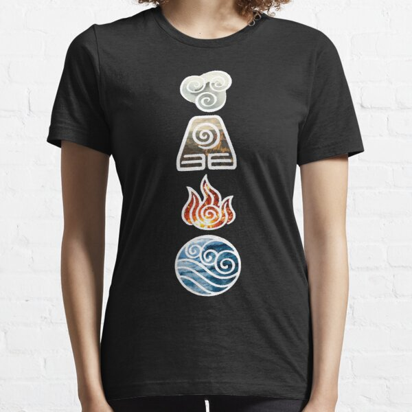 Avatar the Last Airbender Element Symbols Essential T-Shirt
