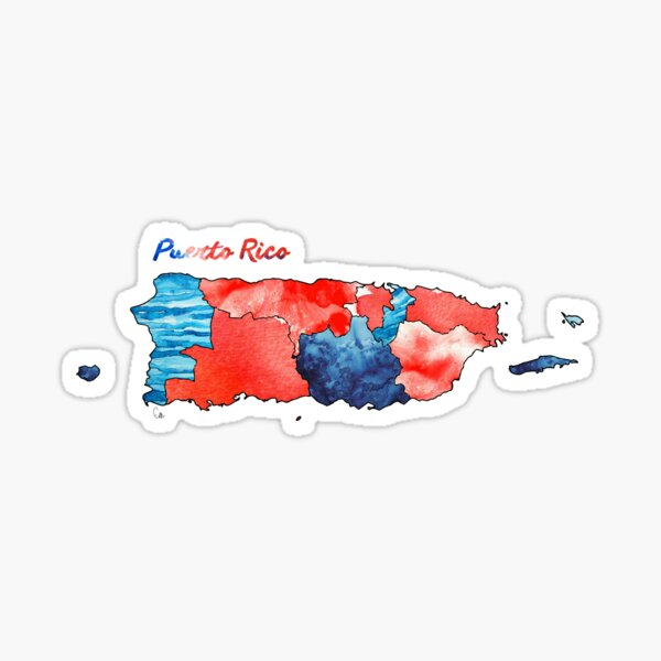 Watercolor Countries - Puerto Rico Sticker