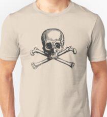 Victorian Style Skull and Bones Unisex T-Shirt