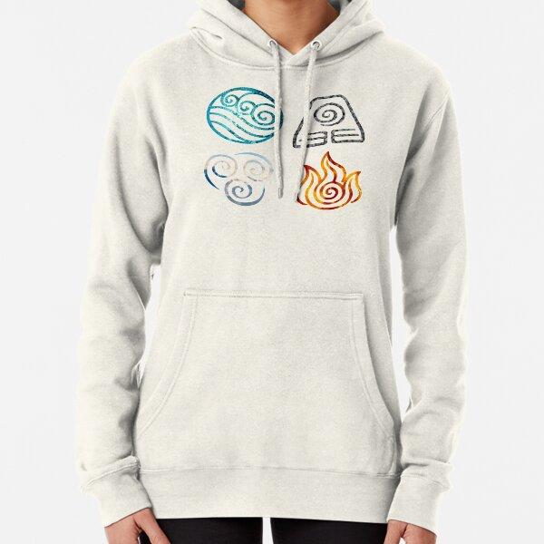 Avatar the Last Airbender Element Symbols Pullover Hoodie