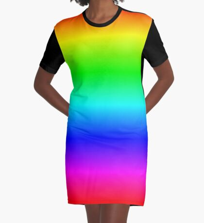Rainbow by Processing Graphic T-Shirt Dress