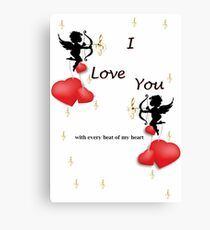 With every beat of my heart Canvas Print