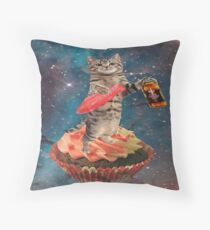 swedish fish cat  Throw Pillow