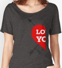 Couple Love - Half Heart Women's Relaxed Fit T-Shirt