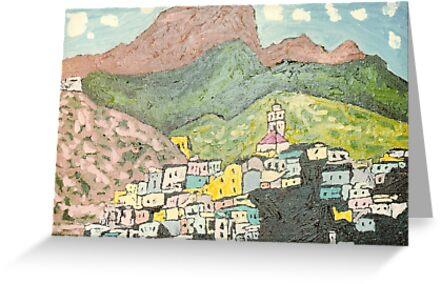 Mountain Village by Pamela Ruggiero