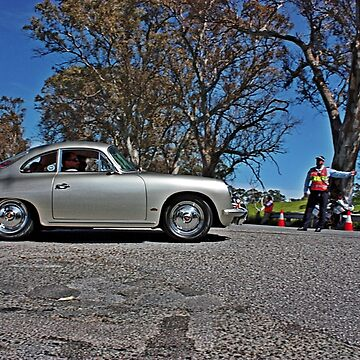Silver Porsche coupe on Angas Creek Road by Ferenghi