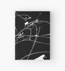 MONOCHROME MINIMALISM SPLATTER ABSTRACT PATTERN Hardcover Journal