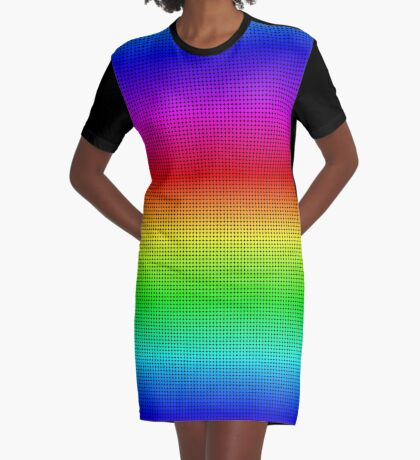 Rainbow Polka dots 002 Graphic T-Shirt Dress