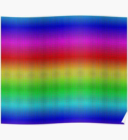 Rainbow Polka dots 002 Poster
