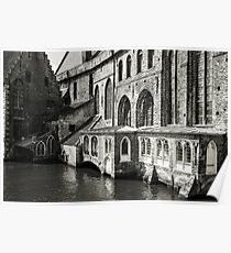 Medieval Architecture on the Canal - Bruges Poster