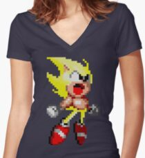 Super Fast And Yellow Women's Fitted V-Neck T-Shirt