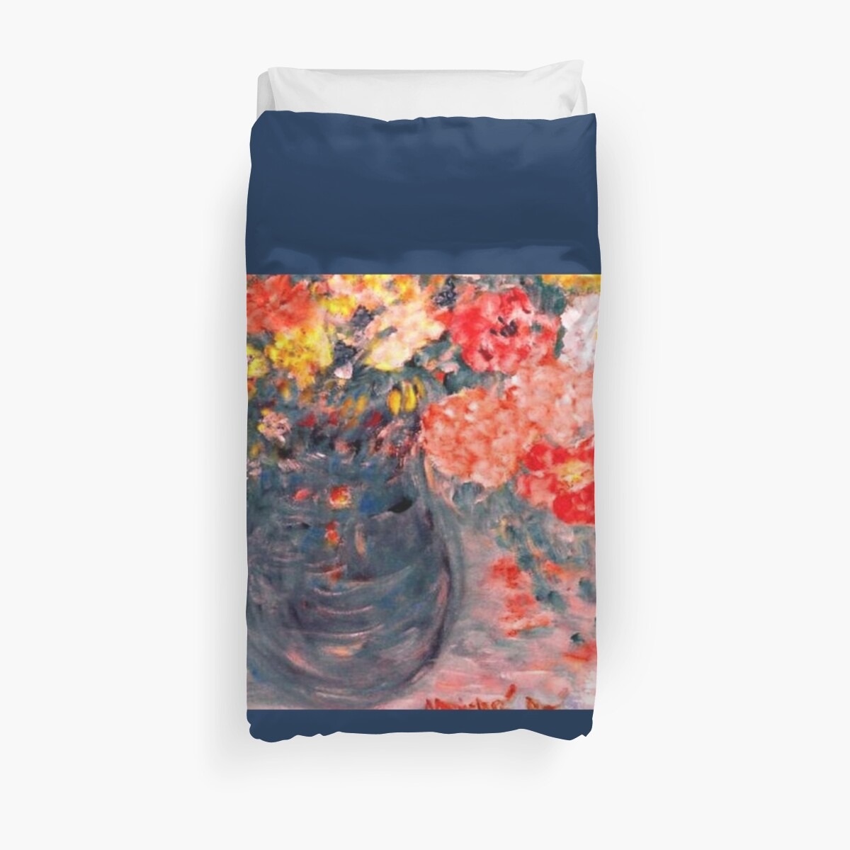 Quot Flowers In Slate Vase Home Decor Amp Gifts Quot Duvet Covers By