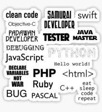 Programming languages. Quotes Sticker