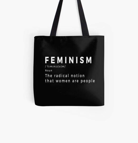 Definición de feminismo Bolsa estampada de tela