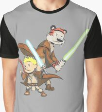Calvin and Hobbes Star Wars Pals Graphic T-Shirt