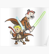 Calvin and Hobbes Star Wars Pals Poster