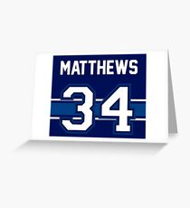Auston Matthews - Toronto Maple Leafs Greeting Card