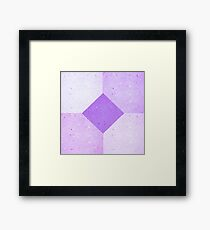 GEOMETRIC RETRO 1980s THROWBACK PURPLE PULP PATTERN Framed Print