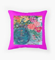 Romance Flowers Designer Decor & Gifts by Marie-Jose Pappas Throw Pillow