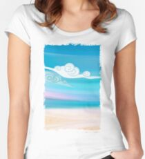 Sea and Clouds Women's Fitted Scoop T-Shirt