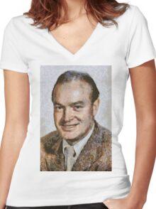 Bob Hope, Vintage Comedian Women's Fitted V-Neck T-Shirt