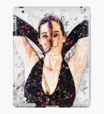 Digitally enhanced image of a 30 year old woman in black top iPad Case/Skin