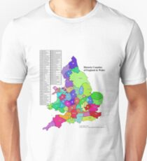 Historic Counties of England and Wales Slim Fit T-Shirt