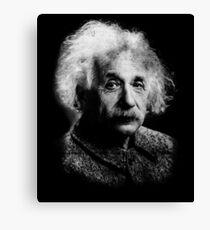 Albert Einstein Portrait Vintage Graphic Canvas Print