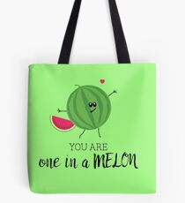 You Are One in a Million Fun Watermelon Summer Fruit Pun Tote Bag