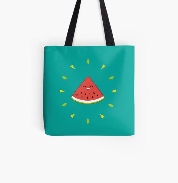 Shiny Watermelon Tote bag doublé