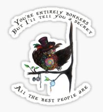 Crazy Owl - Mad Hatter inspired Sticker