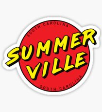 Summerville South Carolina Retro Sticker