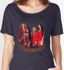Fifth Harmony Portrait With Signatures Women's Relaxed Fit T-Shirt