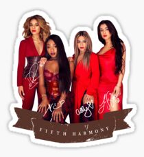 Fifth Harmony Portrait With Signatures Sticker