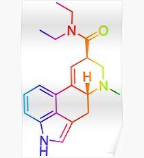 LSD Molekül Farbig Poster