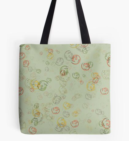 Vintage  Curls  in Sage  Tote Bag