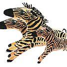 Zumba Zebras by Ginny Luttrell