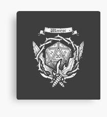 Warrior Crest Canvas Print