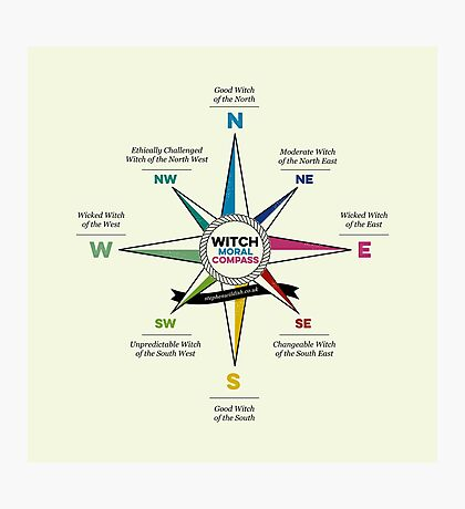 Witch Moral Compass Photographic Print