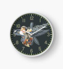 military retro pin-up Clock