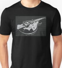 VINTAGE GUITAR ON WALL Unisex T-Shirt
