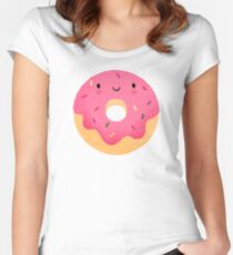Happy donut Women's Fitted Scoop T-Shirt