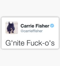 Carrie Fisher Tweets Sticker