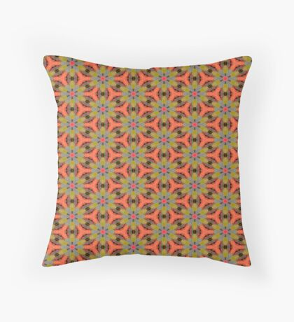 Retro 70's by Julie Everhart Throw Pillow