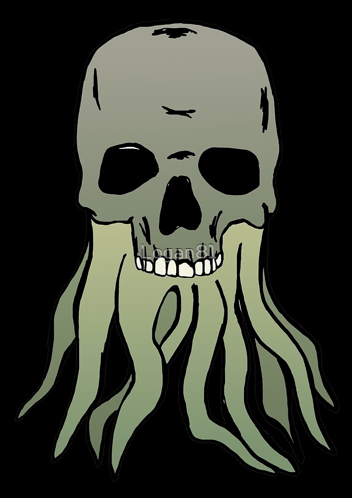 Skull with tentacles by Logan81